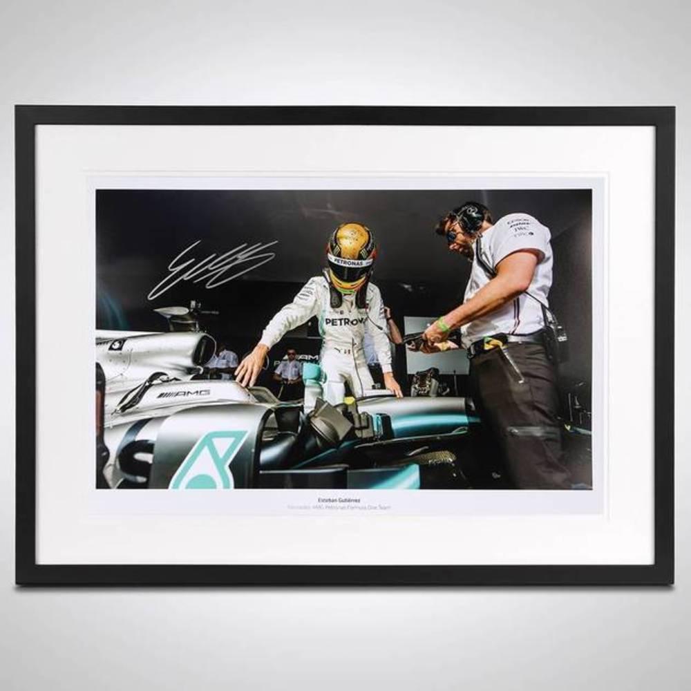 Esteban Gutierrez Framed Signed Photo - Mercedes-AMG Edition