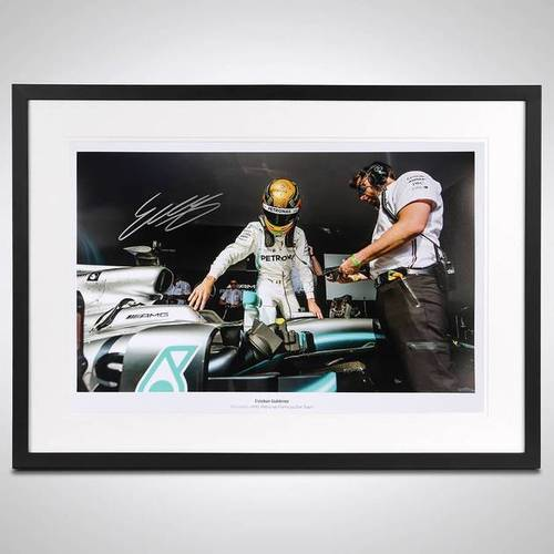 Photo of ESTEBAN GUTIÉRREZ LIMITED EDITION SIGNED & FRAMED PHOTO - MERCEDES-AMG EDITION