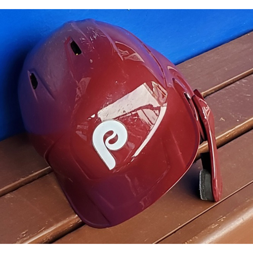 Photo of 2020 Phillies Game-Used Retro Helmet - Alec Bohm