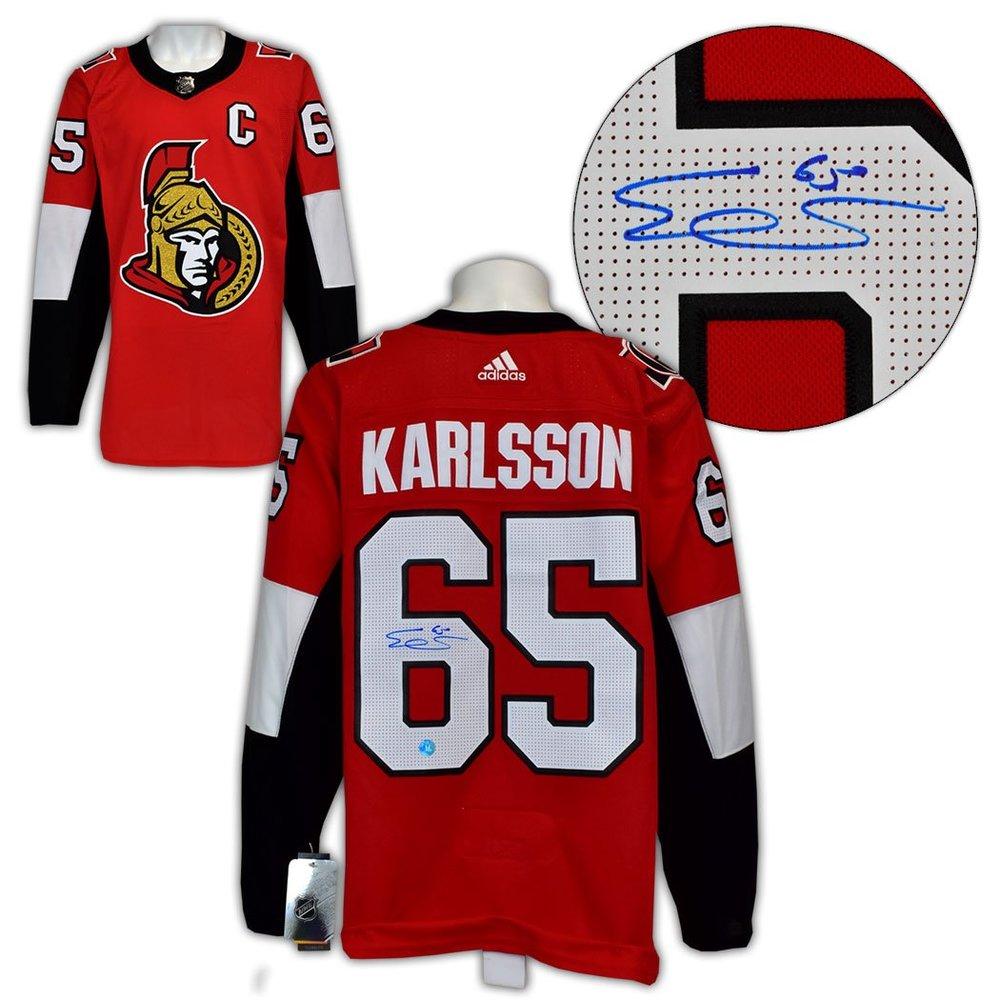 Erik Karlsson Ottawa Senators Autographed Adidas Authentic Hockey Jersey