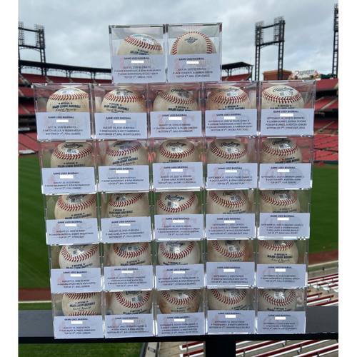Photo of Cardinals Authentics: Game-Used Baseball Auction from the 27 Cardinals Home Games from 2020 Season