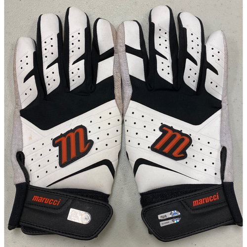 Photo of 2020 Cyber Monday Sale - #28 Buster Posey Team Issued Black & White Marucci Batting Gloves