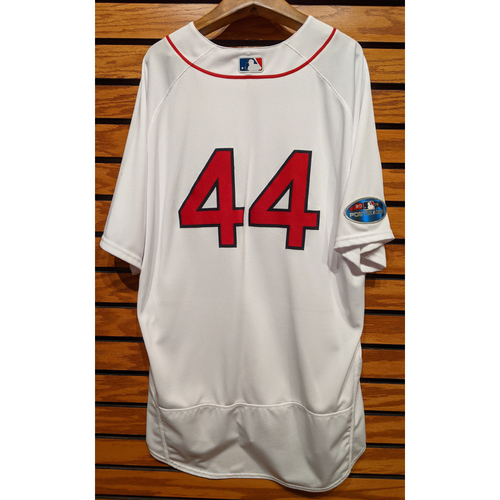 Photo of 2018 Postseason Brandon Workman #44 Team Issued Home White Jersey