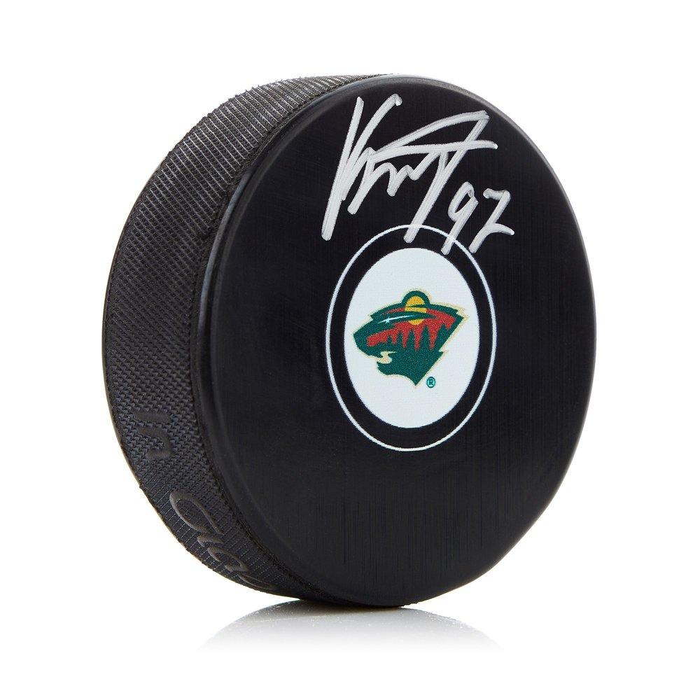 Kirill Kaprizov Minnesota Wild Autograph Model Hockey Puck
