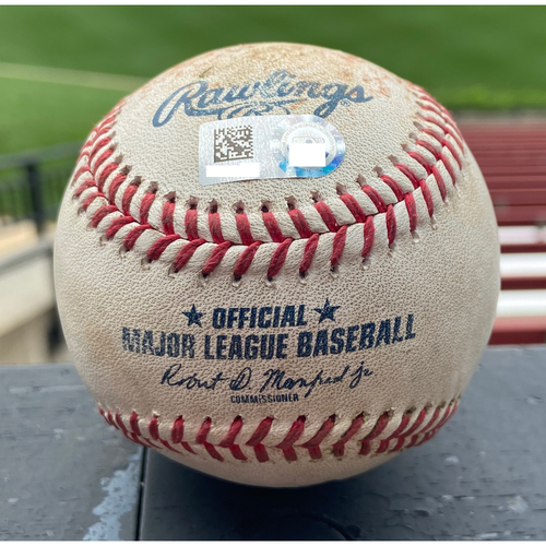Photo of Cardinals Authentics: Game Used Baseball Pitched by Brandon Woodruff to Paul DeJong and Andrew Knizner *DeJong Single, Knizner Ball in Dirt* *Win Streak 17*