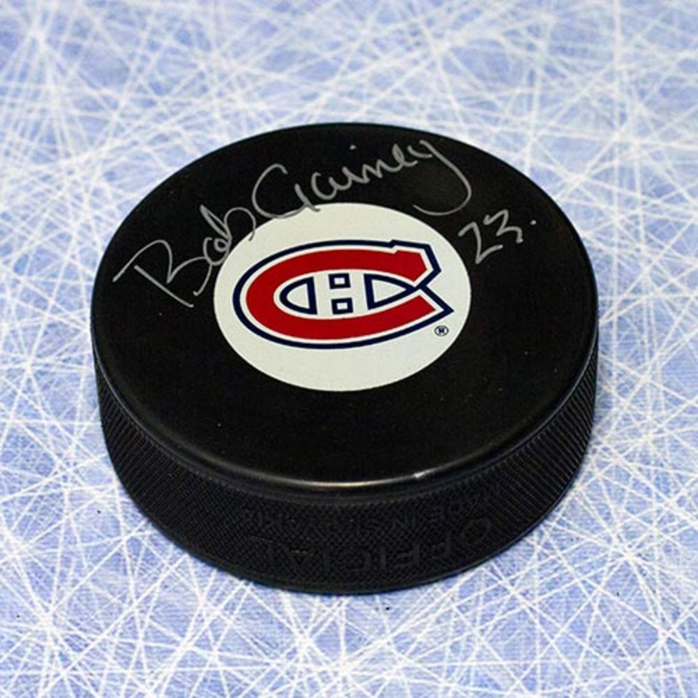 Bob Gainey Montreal Canadiens Autographed Hockey Puck