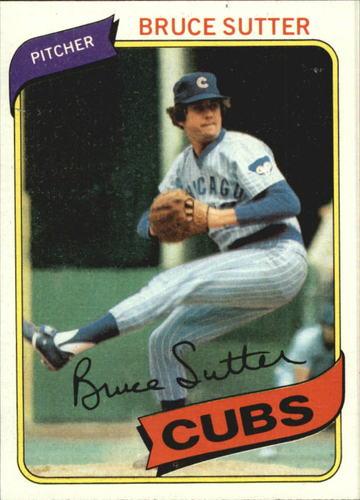 Photo of 1980 Topps #17 Bruce Sutter