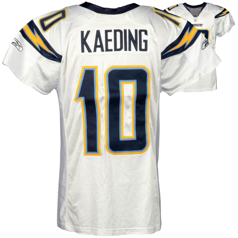 Nate Kaeding San Diego Chargers Game-Used White #10 Jersey from 2007 Season - 2
