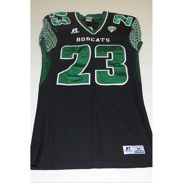 Photo of # 23 - Official OHIO BOBCATS Game Worn Football Jersey (2011) - SIZE MEDIUM