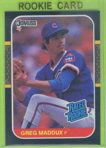 Photo of 1987 Donruss #36 Greg Maddux Rookie Card -- Hall of Famer