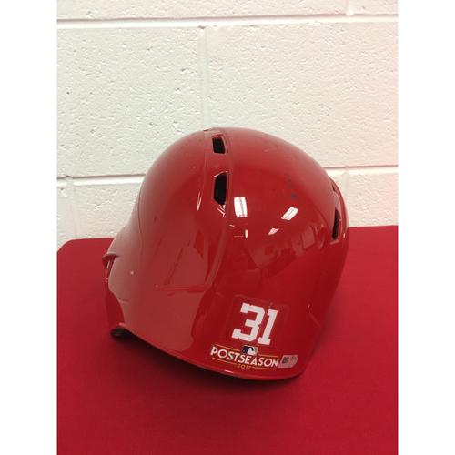 Photo of Team-Issued Helmet: Max Scherzer 2017 Postseason (Helmet Size - 7 1/4)