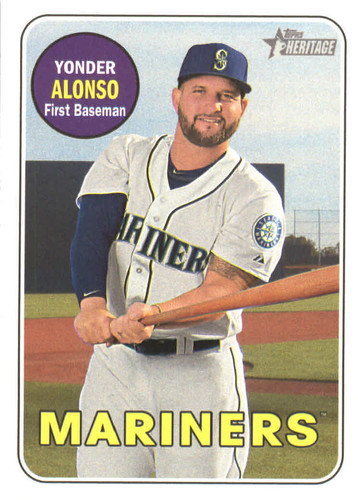 Photo of 2018 Topps Heritage #82 Yonder Alonso