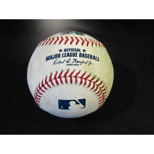 Photo of Game Used Baseball: Jose Altuve Single off Wade LaBlanc. SEA-HOU 4/19/2018