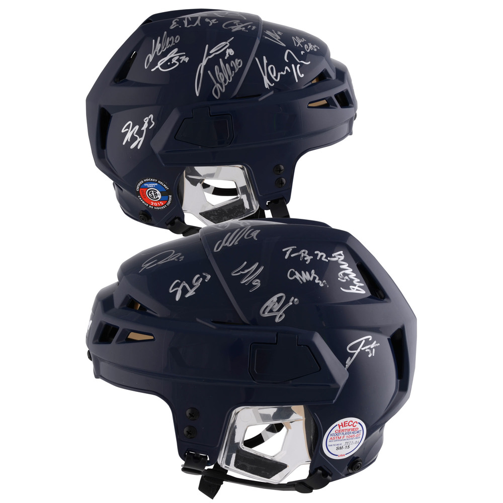 Washington Capitals 2018 Stanley Cup Champions Autographed CCM Game Model Navy Helmet With 24 Signatures - #1 of a L. E. of 12