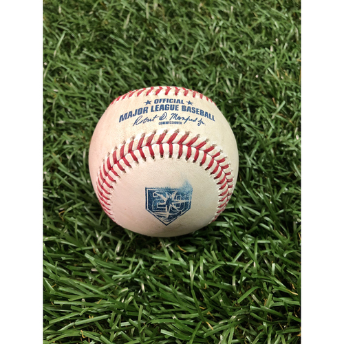 Photo of 20th Anniversary Game Used Baseball: Aaron Judge single off Ryne Stanek - July 25, 2018 v NYY