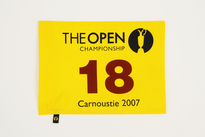 The 136th Open Official Souvenir Pin Flag - Carnoustie 2007