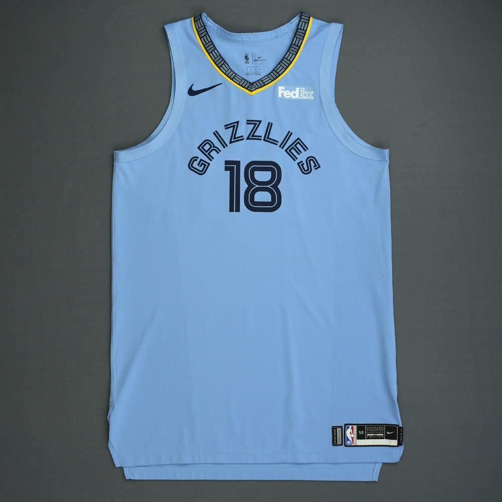 Omri Casspi - Memphis Grizzlies - 2018-19 Season - Game-Worn Blue Statement Edition Jersey