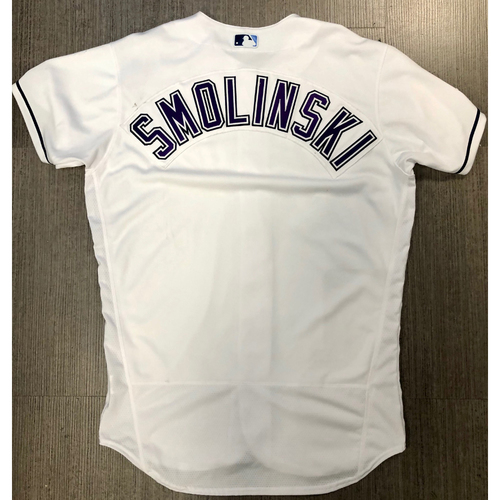 Photo of Team Issued Devil Rays Jersey: Smolinski (Name Only)