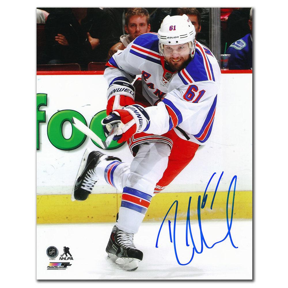 Rick Nash New York Rangers SLAP SHOT Autographed 8x10 Photo