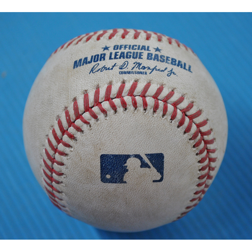Photo of Game-Used Baseball - 2020 ALDS - Tampa Bay Rays vs. New York Yankees - Game 3 - Pitcher: Charlie Morton, Batter: Aaron Judge (Groundout to SS) - Bot 1