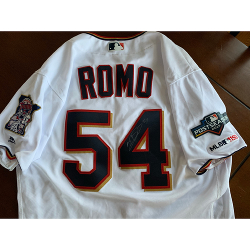 Photo of Sergio Romo 2019 Game-Worn Jersey