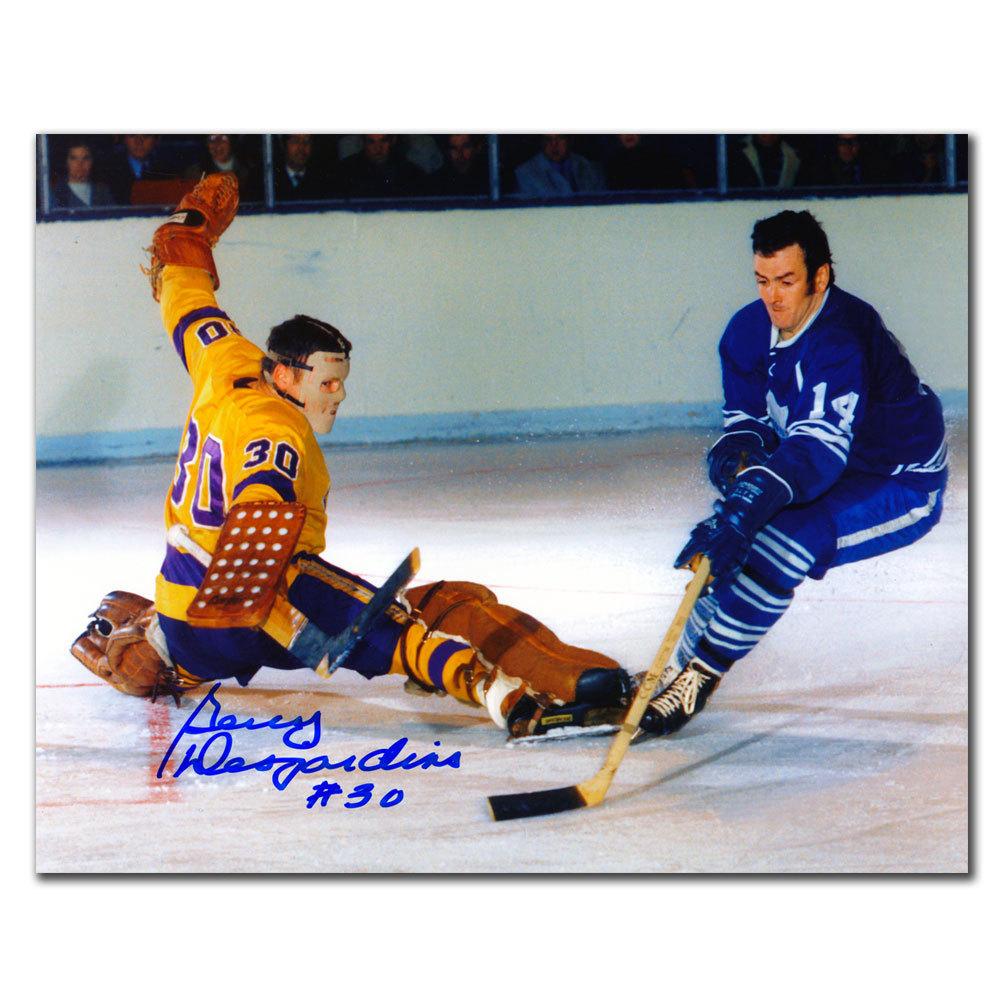 Gerry Desjardins Los Angeles Kings vs. KEON Autographed 8x10