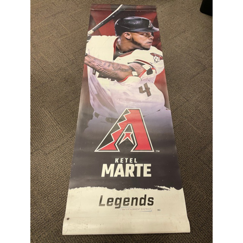 Photo of Ketel Marte 2020 Team-Issued Double-Sided Street Banner - Approximately 93 inches tall by 31 inches wide