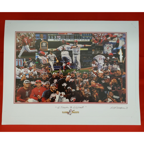"Photo of 2012 "" A Season to Celebrate"" Lithograph by Bill Purdom 17""x13"""