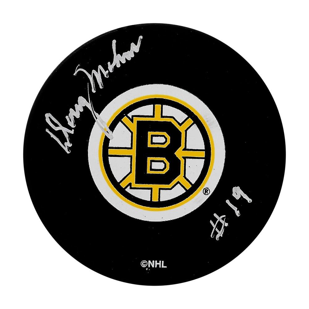 Doug Mohns Autographed Boston Bruins Puck
