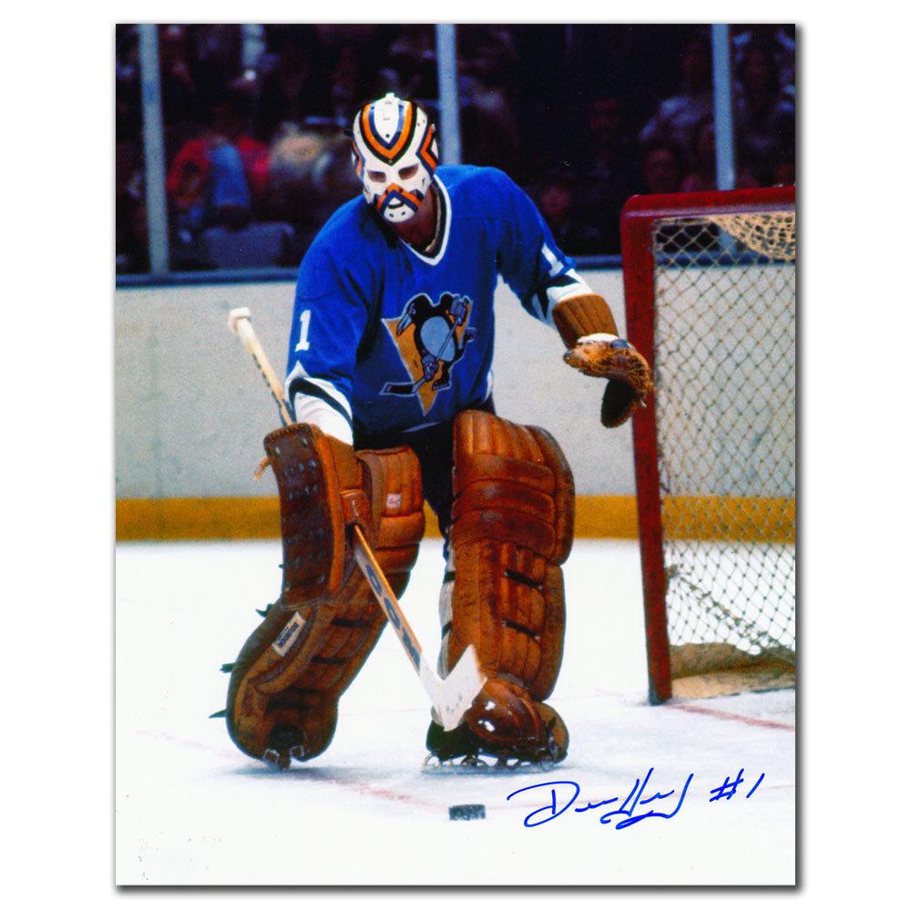 Denis Herron Pittsburgh Penguins RETRO Autographed 8x10