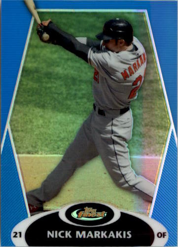 Photo of 2008 Finest Refractors Blue #70 Nick Markakis