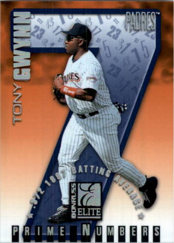 Photo of 1998 Donruss Elite Prime Numbers #7B Tony Gwynn 7/302