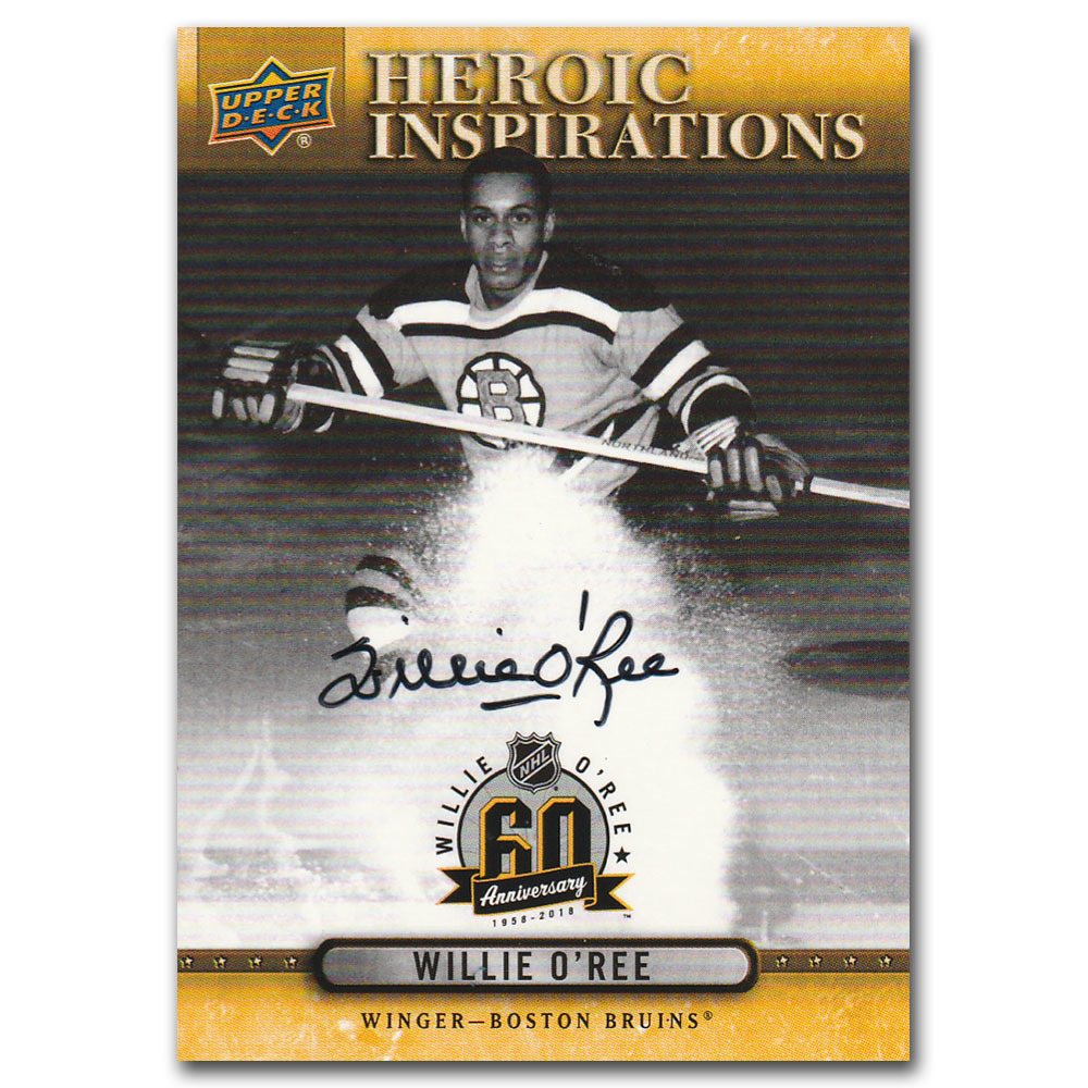 Willie O'Ree Autographed Upper Deck Commemorative Hockey Card