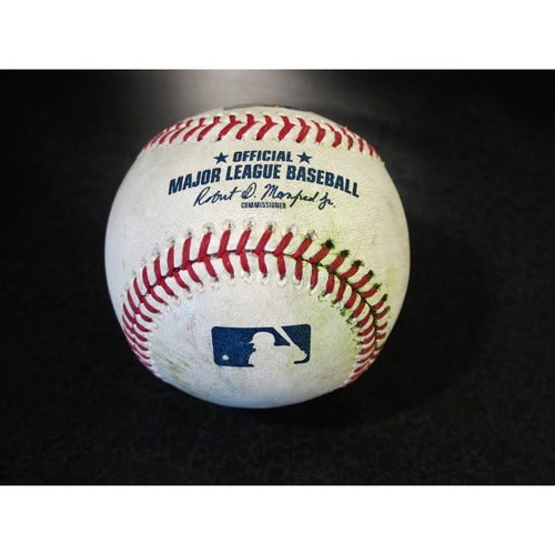 Photo of Game Used Baseball: George Springer Double off Nick Vincent. SEA-HOU 4/18/2018