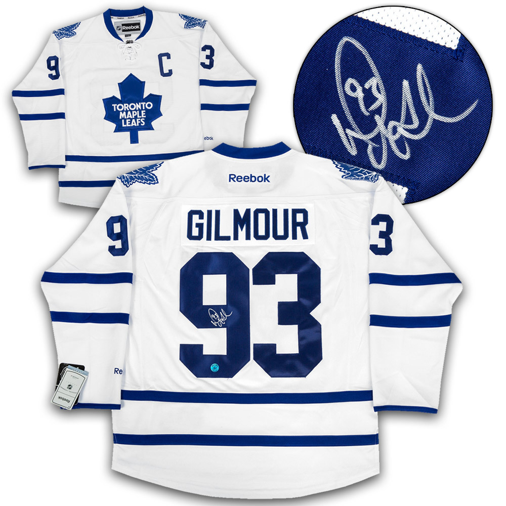 Doug Gilmour Toronto Maple Leafs Autographed White Reebok Premier Hockey Jersey