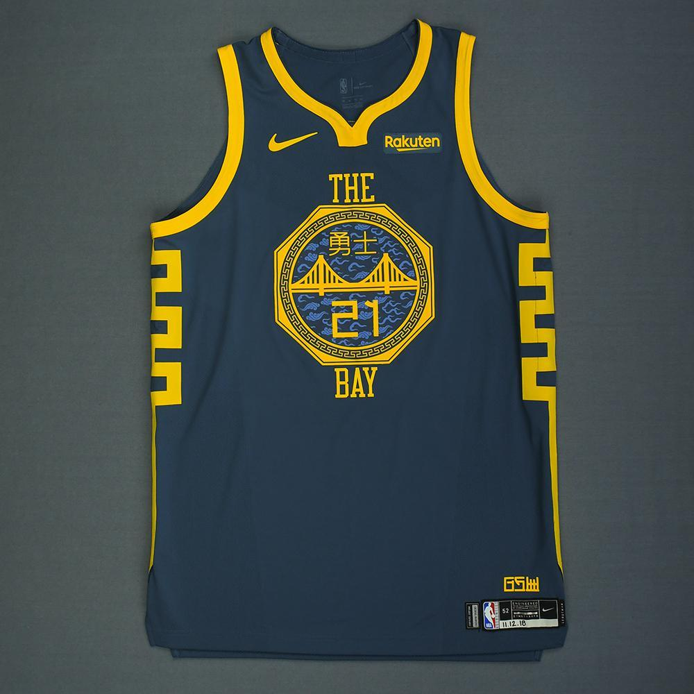 Jonas Jerebko - Golden State Warriors - Game-Worn City Edition Jersey - 2018-19 Season