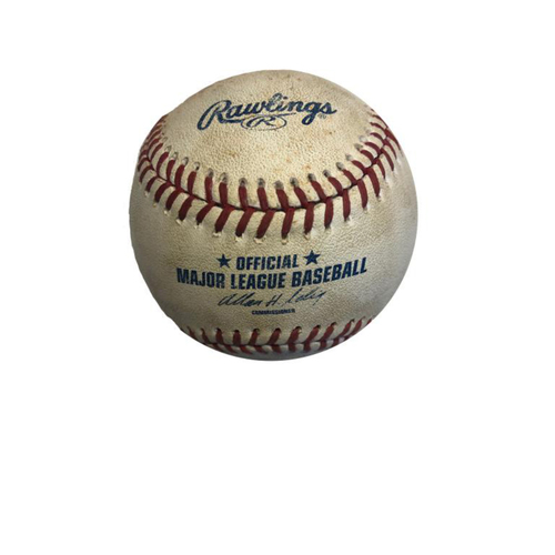 Photo of Game-used Baseball: 6/8/2014 Gallardo vs. Mercer, Bunt Single