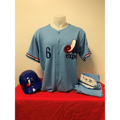 Photo of Anthony Rendon Expos Gear: Game-Used Jersey, Game-Used Pants, and Game-Used Batting Helmet