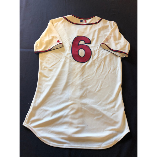 Phillip Ervin -- Game-Used 1935 Throwback Jersey and Pants (Starting LF) -- Rangers vs. Reds on June 15, 2019 -- Jersey Size 44 / Pants Size 36-41-18