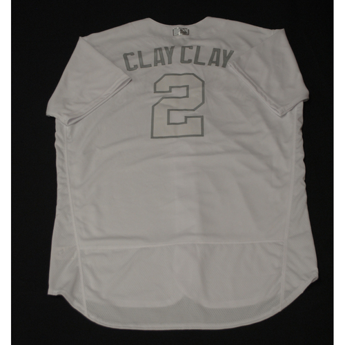 "Photo of Clayton ""CLAY CLAY"" Richard Toronto Blue Jays Team-Issued 2019 Players' Weekend Jersey"