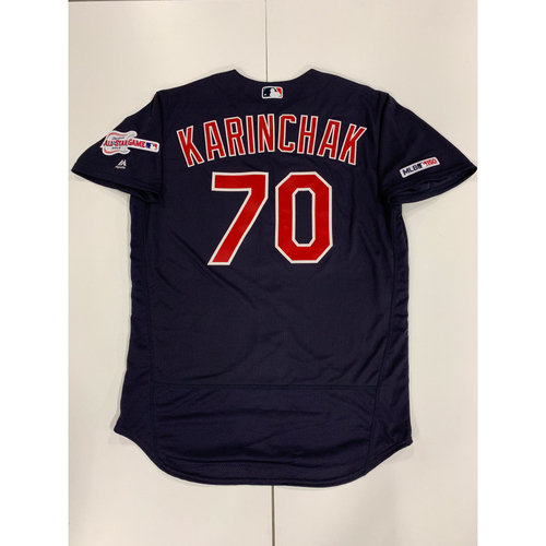 Photo of James Karinchak 2019 Team Issued Alternate Road Jersey