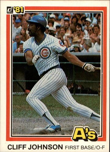 Photo of 1981 Donruss #484 Cliff Johnson