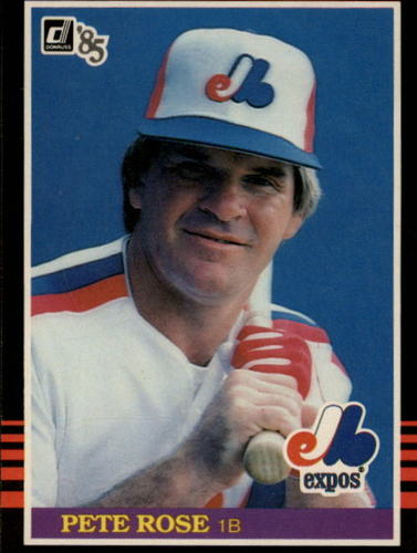 Photo of 1985 Donruss #254 Pete Rose Expos