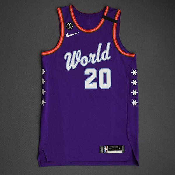 Image of Josh Okogie - 2020 NBA Rising Stars - Team World - Game-Worn 1st Half Jersey