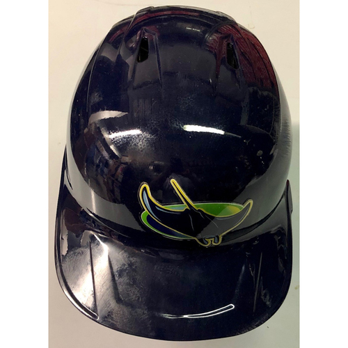 Photo of Game Used Home Run Devil Rays Helmet: Michael Brosseau - Rookie Season & 5th Career Home Run - August 4, 2019 v MIA