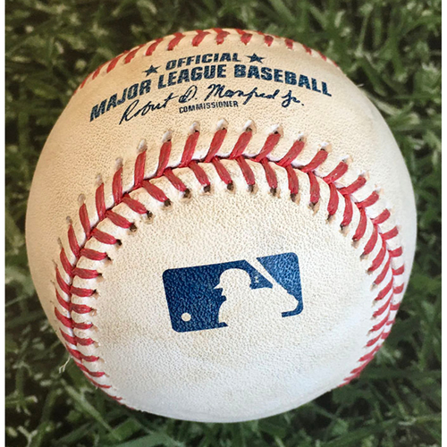 Photo of Game-Used Baseball STL@MIL 09/15/20 - Brett Anderson - Paul Goldschmidt: RBI Double (Career Double #301)