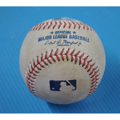 Photo of Game-Used Baseball - 2020 ALDS - Tampa Bay Rays vs. New York Yankees - Game 3 - Pitcher: Charlie Morton, Batter: Kyle Higashioka (Reaches on Error) - Bot 3