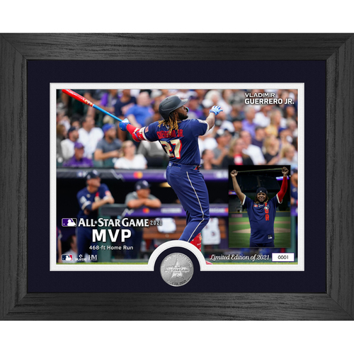 Photo of Vladimir Guerrero Jr. 2021 All-Star Game MVP Silver Coin Photo Mint