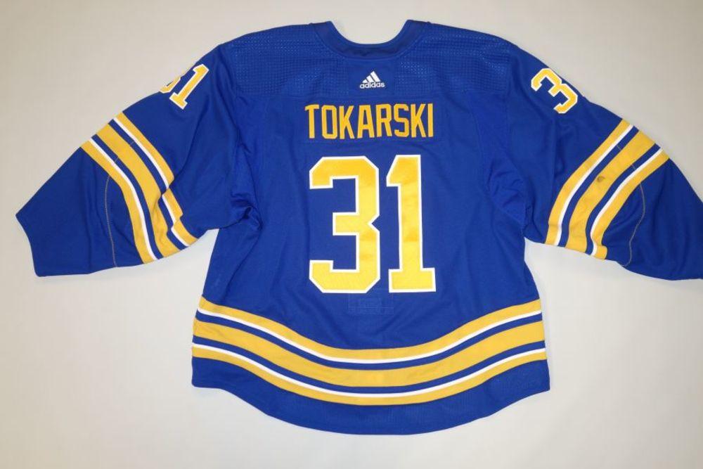 Dustin Tokarski 2020-21 Buffalo Sabres Set 2 Home Jersey