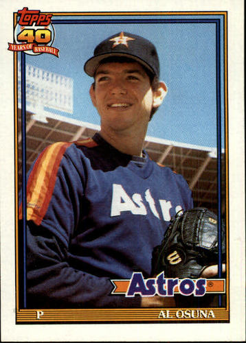 Photo of 1991 Topps #149 Al Osuna UER RC/Shown throwing right,/but bio says lefty